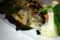 Біла риба з овочами