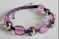 Фіолетовий браслет Шамбала. Майстер клас.