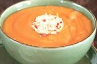 Густий морквяний суп з гострим маслом