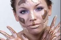 Корекція форми обличчя за допомогою тонального крему і пудри