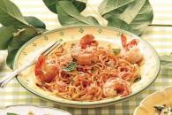 Лінгвіні з креветками і вершково-томатним соусом
