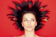 Маска з полуниці для волосся