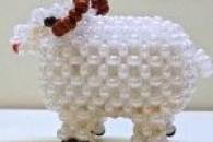 Плетіння овечки з бісеру за схемою
