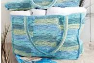 Пляжні сумки, зв'язані гачком, з докладним описом і схемами