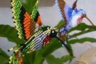 Різні тварини з бісеру плоским і об'ємним плетінням