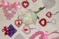 Сердечка-валентинки з бісеру своїми руками