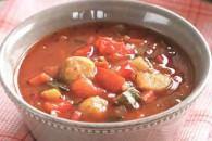 Суп з перцем і брюссельською капустою