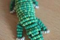 Вчимося крок за кроком плетінню крокодила з бісеру