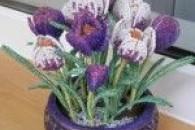 Весняні тюльпани з бісеру у майстер-класі
